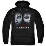 Bride Of Chucky Happy Couple Adult Pullover Hoodie Sweatshirt Black