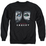 Bride Of Chucky Happy Couple Adult Crewneck Sweatshirt Black