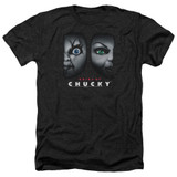 Bride Of Chucky Happy Couple Adult Heather T-Shirt Black