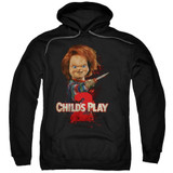 Child's Play 2 Here's Chucky Adult Pullover Hoodie Sweatshirt Black