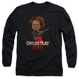 Child's Play 2 Here's Chucky Adult Long Sleeve T-Shirt Black