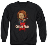 Child's Play 2 Here's Chucky Adult Crewneck Sweatshirt Black