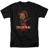 Child's Play 2 Here's Chucky Adult 18/1 T-Shirt Black
