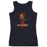 Child's Play 2 Here's Chucky Junior Women's Tank Top T-Shirt Black