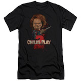 Child's Play 2 Here's Chucky Adult 30/1 T-Shirt Black
