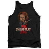 Child's Play 2 Here's Chucky Adult Tank Top T-Shirt Black