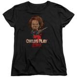 Child's Play 2 Here's Chucky Women's T-Shirt Black