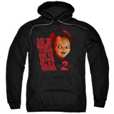 Child's Play 2 In Heaven Adult Pullover Hoodie Sweatshirt Black