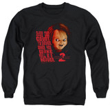 Child's Play 2 In Heaven Adult Crewneck Sweatshirt Black