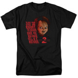 Child's Play 2 In Heaven Adult 18/1 T-Shirt Black