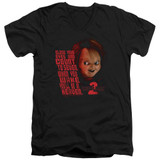Child's Play 2 In Heaven Adult V-Neck T-Shirt Black