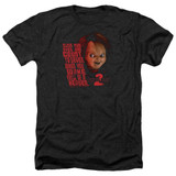 Child's Play 2 In Heaven Adult Heather T-Shirt Black