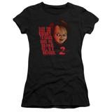 Child's Play 2 In Heaven Junior Women's Sheer T-Shirt Black