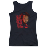 Child's Play 2 In Heaven Junior Women's Tank Top T-Shirt Black
