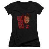 Child's Play 2 In Heaven Junior Women's V-Neck T-Shirt Black