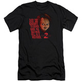 Child's Play 2 In Heaven Premium Canvas Adult Slim Fit T-Shirt Black