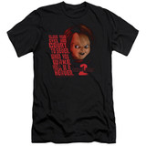 Child's Play 2 In Heaven Adult 30/1 T-Shirt Black