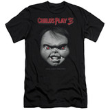 Child's Play 3 Face Poster Adult 30/1 T-Shirt Black