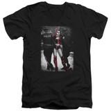 Batman Arrest Adult V-Neck T-Shirt Black