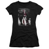 Batman Arrest Junior Women's T-Shirt Sheer Black