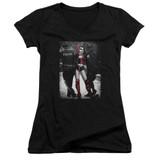 Batman Arrest Junior Women's V-Neck T-Shirt Black