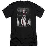 Batman Arrest Premuim Canvas Adult Slim Fit T-Shirt Black