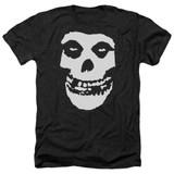 Misfits Fiend Skull Adult Heather Black T-Shirt