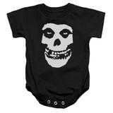Misfits Fiend Skull Infant Baby Snapsuit Onesie Black