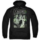 Misfits The Return Adult Pullover Hoodie Sweatshirt Black