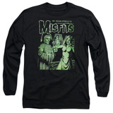 Misfits The Return Long Sleeve Adult 18/1 Black T-Shirt