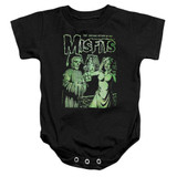 Misfits The Return Infant Baby Snapsuit Onesie Black