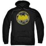 Batman Vintage Symbol Collage Adult Pullover Hoodie Sweatshirt Black