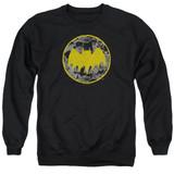 Batman Vintage Symbol Collage Adult Crewneck Sweatshirt Black