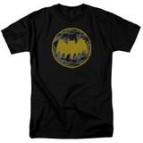 Batman Vintage Symbol Collage Adult 18/1 T-Shirt Black