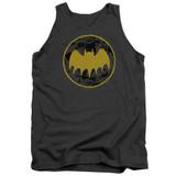 Batman Vintage Symbol Collage Adult Tank Top T-Shirt Charcoal
