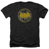 Batman Vintage Symbol Collage Adult Heather T-Shirt Black