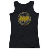 Batman Vintage Symbol Collage Junior Women's Tank Top T-Shirt Black