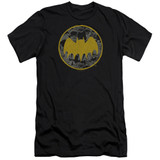 Batman Vintage Symbol Collage Adult 30/1 T-Shirt Black