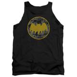 Batman Vintage Symbol Collage Adult Tank Top T-Shirt Black