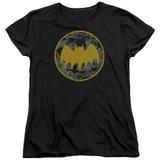 Batman Vintage Symbol Collage Women's T-Shirt Black
