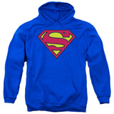 Superman Classic Logo Adult Pullover Hoodie Sweatshirt Royal Blue