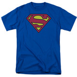Superman Classic Logo Adult 18/1 T-Shirt Royal Blue