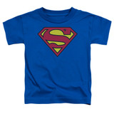 Superman Classic Logo Toddler T-Shirt Royal Blue