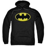 Batman Classic Logo Adult Pullover Hoodie Sweatshirt Black