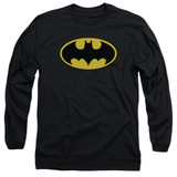 Batman Classic Logo Adult Long Sleeve T-Shirt Black