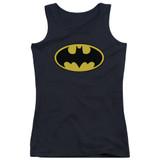 Batman Classic Logo Junior Women's Tank Top T-Shirt Black