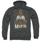 Misfits I Remember Halloween Adult Pullover Hoodie Sweatshirt Charcoal