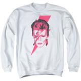 David Bowie Aladdin Sane Adult Crewneck Sweatshirt White