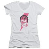David Bowie Aladdin Sane Junior Women's T-Shirt V Neck White