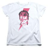 David Bowie Aladdin Sane S/S Women's T-Shirt White